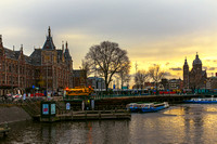 Centraal Station and St. Nicholas Church Amsterdam
