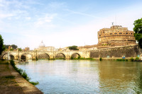 St Peter's Basilica and Castel Sant Angelo Rome