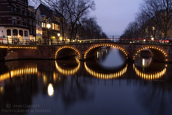 Cycle Light Trails in Amsterdam