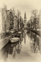 Amsterdam Backwater Sepia