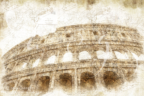 The Colosseum Rome Digital Art